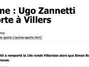 Cyclisme : Ugo Zannetti l'emporte à Villers encart site 2